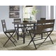 Kavara Counter Height Dining Table and 4 Barstools and Bench