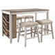 Skempton Counter Height Dining Table and 4 Barstools