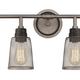 Steel Glencoe 4-Light Vanity Light
