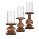 Home Accents Nakato Wood Bark Candleholders (Set of 3)