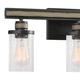 Steel Beaufort 2-Light Vanity Light