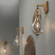 Iron Tear Drop Hanging Wall Sconce