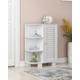Furinno Indo Storage Shelf with Louver Door Cabinet