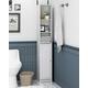Furinno Indo Slim Luver Door Bath Cabinet