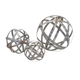 Home Accents Galvanized Spheres (Set of 3)