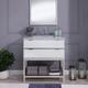 Southern Enterprises Malta Mirrored Vanity Sink with Marble Top