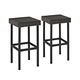 Crosley Palm Harbor 2-Piece Outdoor Wicker Bar Height Bar Stool Set