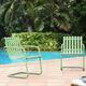 Crosley Gracie 2-Piece Stainless Steel Chair Set