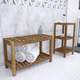 Southern Enterprises Vasana Solid Wood Bath Storage Set (Set of 2)