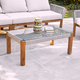 Southern Enterprises Channa Outdoor Glass-Top Cocktail Table