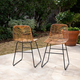 Southern Enterprises Maybrey Pair Of Faux Rattan Outdoor Chairs