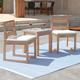 Southern Enterprises Quenn Acacia Armless Dining Chairs 2-Piece Set