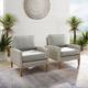 Crosley Capella Outdoor Wicker Chair (Set of 2)
