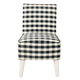 HomePop Kid's Modern Slipper Chair - Mini Black Plaid