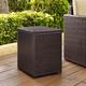 Crosley Palm Harbor Outdoor Wicker Rectangular Side Table