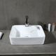 Safavieh Fen Porcelain Ceramic Vitreous Rectangular Bathroom Vessel Sink