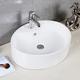 Safavieh Brook Porcelain Ceramic Vitreous Oval Bathroom Vessel Sink