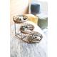 Kalalou Three Tiered Display Basket With Metal Stand