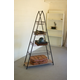 Kalalou A-Frame Tower With Wire Baskets And Wooden Shelf