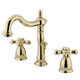 Kingston Brass Heritage Widespread Bathroom Faucet with Brass Pop-Up