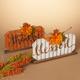 Fall Assorted Wood Tabletop Pumpkin Décor (Set of 2)
