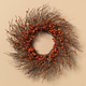 Fall Dried Twig and Fall Berries Wreath