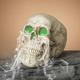 Halloween 20.8-Inch Electric Magnesium Smoking Haunted Skull