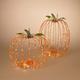 Halloween Assorted Electric Metal Harvest Pumpkins (Set of 2)