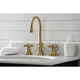 Kingston Brass Governor Widespread Bathroom Faucet with Brass Pop-Up