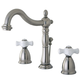 Kingston Brass Heritage Widespread Bathroom Faucet with Plastic Pop-Up