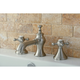 Kingston Brass English Country Widespread Bathroom Faucet with Brass Pop-Up
