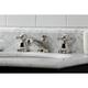 Kingston Brass Metropolitan Widespread Bathroom Faucet with Brass Pop-Up