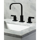 Kingston Brass NuvoFusion Widespread Bathroom Faucet with Plastic Pop-Up