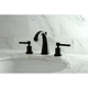 Kingston Brass Concord Widespread Bathroom Faucet with Brass Pop-Up