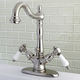 Kingston Brass Bel-Air Two-Handle Bathroom Faucet with Brass Pop-Up