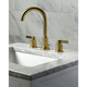 Kingston Brass NuvoFusion Widespread Bathroom Faucet with Brass Pop-Up