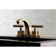 Kingston Brass Claremont Widespread Bathroom Faucet with Brass Pop-Up