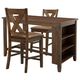 Chaleny Counter Height Dining Table and 2 Barstools