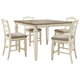 Realyn Counter Height Dining Table and 4 Barstools