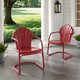 Crosley Tulip 2-piece Chair Set