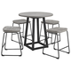 Showdell Counter Height Dining Table and 4 Barstools