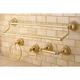 Kingston Brass Restoration 4-piece Bathroom Hardware Set with Towel Bar
