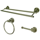 Kingston Brass Concord 3-piece Bathroom Hardware Set with Dual Towel Bar