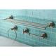 Kingston Brass Concord 4-piece Bathroom Hardware Set with Dual Towel Bar
