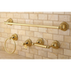 Kingston Brass Restoration 4-piece Bathroom Hardware Set with 24