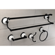 Kingston Brass Victorian 4-piece Bathroom Hardware Set with Dual Towel Bar