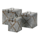 Home Accents Galvanized Trunks (Set of 3)
