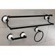 Kingston Brass Victorian 3-piece Bathroom Hardware Set with Dual Towel Bar