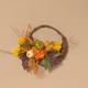 Fall 20-Inch Diameter Cornucopia Wreath with Pumplins and Berries