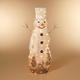 Christmas LED Lighted White Snowman with Scarf and Top Hat